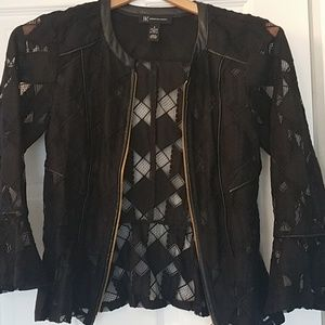 INC International Concepts Lace Peplum Jacket